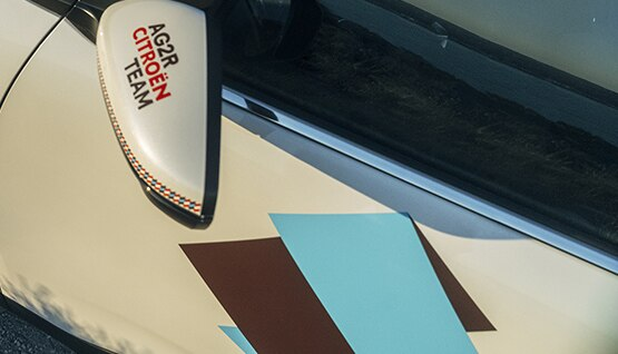 Rétroviseur SUV C5 Aircross avec identité graphique AG2R CITROËN TEAM